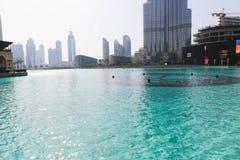 See von Dubai-Brunnen nachts Lizenzfreies Stockfoto