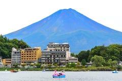 See von Kawaguchi mit Fuj-Berg Stockfoto
