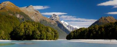 See Wakatipu, Glenorchy, Neuseeland lizenzfreies stockfoto