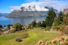 See Wakatipu von Queenstown Lizenzfreies Stockbild