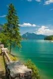 See Walchensee nahe der Stadt Walchensee Lizenzfreie Stockfotos