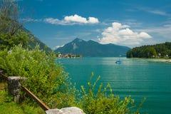 See Walchensee nahe der Stadt Walchensee Stockbild