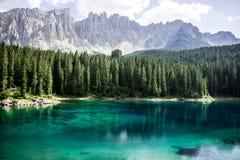 See, Wald und Berge lizenzfreies stockbild