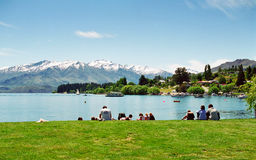 See Wanaka, Neuseeland Lizenzfreies Stockfoto