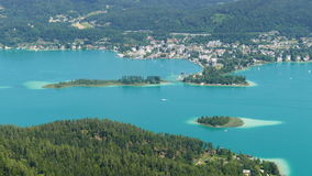 See Worthersee-Landschaft in Kärnten, Österreich stockfotos