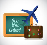 See you later blackboard travel sign Stock Image