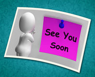 See You Soon Photo Means Goodbye Or Farewell Royalty Free Stock Images
