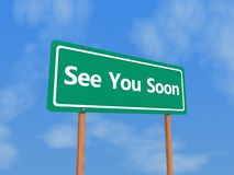 See you soon sign Stock Photo