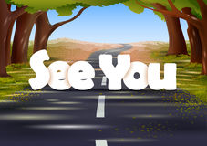 See you wallpaper background Royalty Free Stock Image