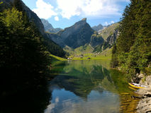 Seealpsee jeziora widok obraz stock