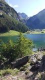 Seealpsee lake switzerland. Seealpsee lake in switzerlamd near aescher in Ebenalp Royalty Free Stock Photos