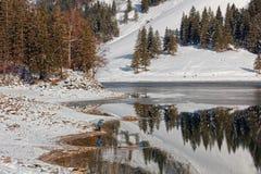 Seealpsee, Wasserauen-Ebenalp, Apenzell, Szwajcaria zdjęcia stock