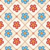 seeamless blommamodell Royaltyfria Bilder