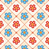 seeamless kwiatu wzór Obrazy Royalty Free