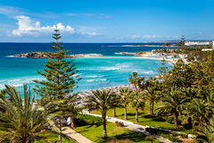 Seeansicht über Zypern Stockbilder