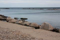 Seeansicht in Bari Stockbild