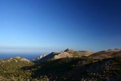 Seeansicht über Peloponnes Lizenzfreie Stockbilder