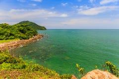Seeansicht Blick von Standpunkt Noen Nangphaya Lizenzfreies Stockfoto