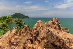 Seeansicht Blick von Standpunkt Noen Nangphaya Stockbild