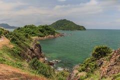 Seeansicht Blick von Standpunkt Noen Nangphaya Lizenzfreies Stockbild