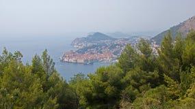 Seeansicht der Stadt von Dubrovnik in Kroatien Lizenzfreie Stockfotografie