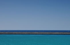 Seeansicht in Iraklio-Hafen, Griechenland Lizenzfreie Stockfotos