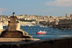 Seeansicht Maltas im August 2015 von der Promenade, Valletta stockbild