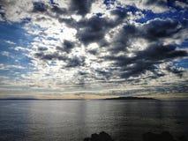 Seeansicht in Opatija, Kroatien lizenzfreie stockbilder