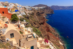 Seeansicht Santorini Oia Lizenzfreie Stockfotografie