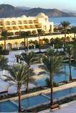 Seeansicht-Swimmingpoolhotel Ägypten Stockbilder