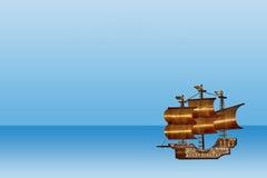 Seeansicht und ein Schiff Stockfoto