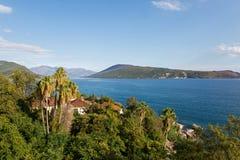 Seeansicht von der Festung von Herceg-Novi Lizenzfreies Stockfoto