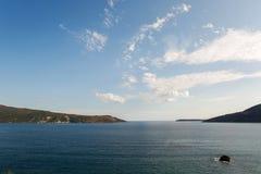 Seeansicht von der Festung von Herceg-Novi Lizenzfreie Stockfotos