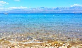 Seeansicht von der Insel Lizenzfreies Stockfoto