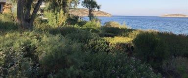 Seeansicht von Minos-Ufer in Kreta lizenzfreie stockfotos