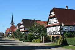 Seebach, village in Alsace Royalty Free Stock Image
