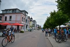 Seebad Ahlbeck town view Royalty Free Stock Images