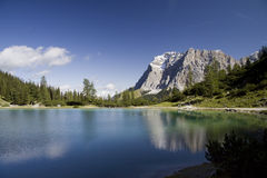 Seebensee lake and Wetterstein Royalty Free Stock Photography