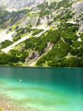 Seebensee Mountain. Panoramic shot of the Seebensee in the Austrian Alps royalty free stock photo