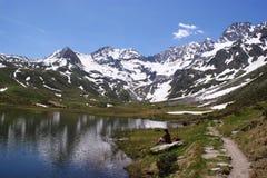 \ \ Seebersee \ \ in de Alpen Oetztal Stock Foto's