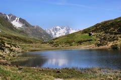 Seebersee in Zuid-Tirol, Italië Stock Foto's