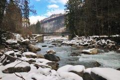 Seeblick in einem Winterwettbewerb Stockfotos