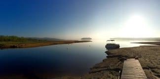 Seeblick für die Fischerei Stockfotografie