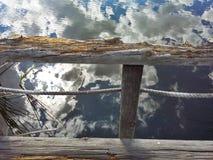 Seeblick von einer Brücke Lizenzfreies Stockbild