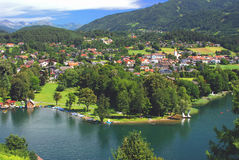 Seeboden,Lake Millstatt Royalty Free Stock Photography