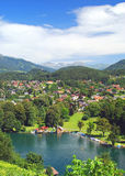 Seeboden,Lake Millstatt Stock Photo