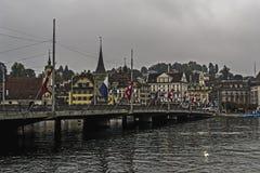 Seebrücke in Lucerne Stock Image