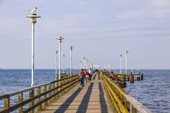 Seebrucke Ahlbeck, pleasure pier in Ahlbeck, island of Usedom, G Royalty Free Stock Image