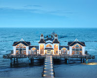 Seebrucke Sellin on island Ruegen in Germany Royalty Free Stock Images