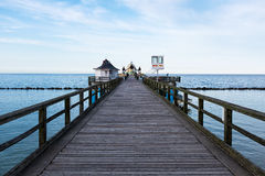 Seebruecke Sellin on the island of Ruegen, Mecklenburg-Vorpommern, Germany Royalty Free Stock Photography